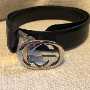 Gucci signature double GG leather belt